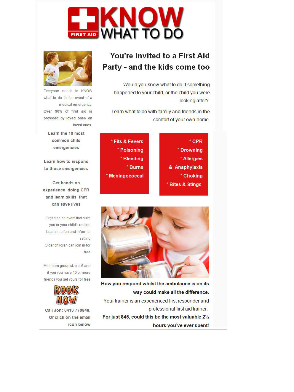 First Aid Parties on the Sunshine Coast